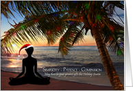 Yoga Christmas Beach Scene card