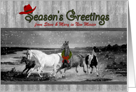Western Themed Christmas - Wild Horses from New Mexico card