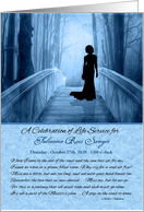 Celebration of Life Service Invitation Custom Blue Bridge card