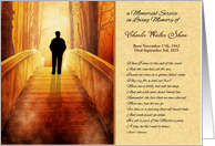 Memorial Service Invitation Custom Golden Bridge card