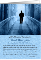Memorial Service Invitation Custom Heavenly Bridge in Blue card