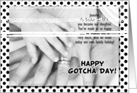 for Adopted Daughter on Gotcha Day or Adoption Anniversary card