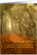 Sympathy Thank You Path in Woods Painting card