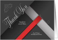 Employee Anniversary Custom Red and Black Damask card