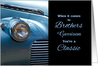 for Brother's Birthday Custom Classic Car in Blue card