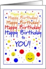 from Group, Happy Birthday to YOU! Smiley Faces card