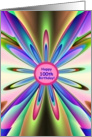 Happy 100th Birthday To You! Rainbow Petals card