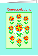 White Coat Ceremony, Congratulations!, Rainbow Flowers card