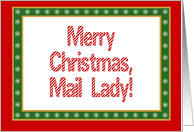 Mail Lady Merry Christmas card