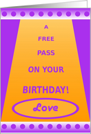 Love, Adult, SexyHappy Birthday Pass, Humor card