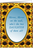 Daughter,Thank You,Mirror,Mirror card