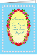 Announcing Adoption of Parents! Garden Oval card