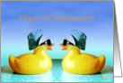 1st, Happy Anniversary, Two Yellow Ducks card