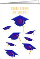 Congratulations, MBA Graduate! Flying Mortar Boards card