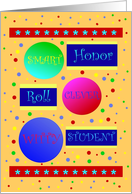 Congratulations, Academic Achievement Honor Roll, Compliments card