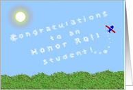 Congratulations, Academic Achievement, Honor Roll, Skywriter card