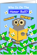 Congratulations, Academic Achievement, Honor Roll,Wise Owl card