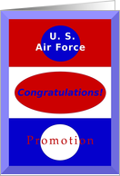 Congratulations, U. S. Air Force Rank Promotion card