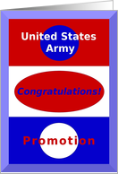Congratulations, United States Army Rank Promotion card