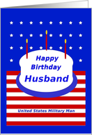 Military, Husband, Happy Birthday! card