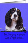 Father's Day Licker License - featuring a tri-colored English Springer Spaniel card