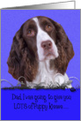 Father's Day Licker License - featuring a liver/white English Springer Spaniel card