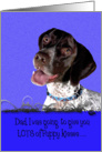 Father's Day Licker License - featuring a German Shorthaired Pointer card