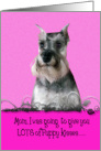 Mother's Day Licker License - featuring a Miniature Schnauzer card