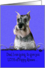 Father's Day Licker License - featuring a Miniature Schnauzer card