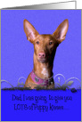 Father's Day Licker License - featuring a Pharaoh Hound card
