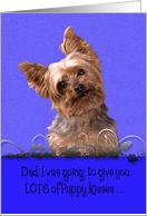 Father's Day Licker License - featuring a Yorkshire Terrier card