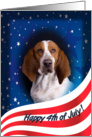 July 4th Card - featuring a Basset Hound card