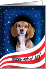 July 4th Card - featuring a Beagle card