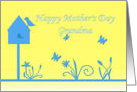Mother's Day for Grandmother sunny yellow and blue card