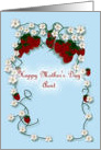 Happy Mother's Day Aunt strawberries and blossoms card