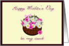 Happy Mother's Day Aunt, floral bouquet card