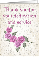 Thank you, music theme card