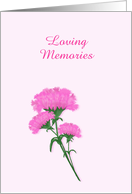Loving Memories for Hospice Patient,customizable, Pink Carnations card
