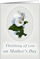 Thinking of you on Mother's Day, Loss of a child, Calla Lily card