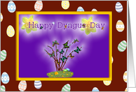 Happy Dyngus Day, butterflies and pussywillow card