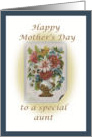 Happy Mother's Day special aunt, vintage vase of flowers card