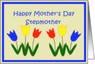Happy Mother's Day Stepmother, Applique Tulips card