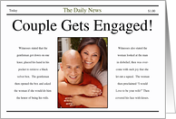 Engagement Announcement ~ Newspaper Style card