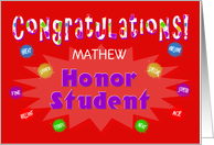 Congratulations Honor Student - Custom Card