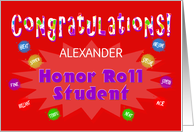 Congratulations Honor Roll Student - Custom Card