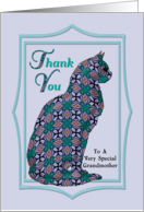 Grandmother Thank You Embellished Cat card