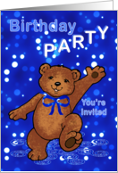 Birthday Party Teddy Bear Invitation card