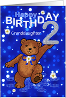 2nd Birthday Dancing Bear for Granddaughter card