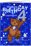 4th Birthday Dancing Bear for Granddaughter card