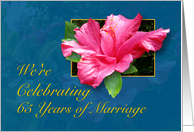 65th Anniversary Party Invitation - Hibiscus card